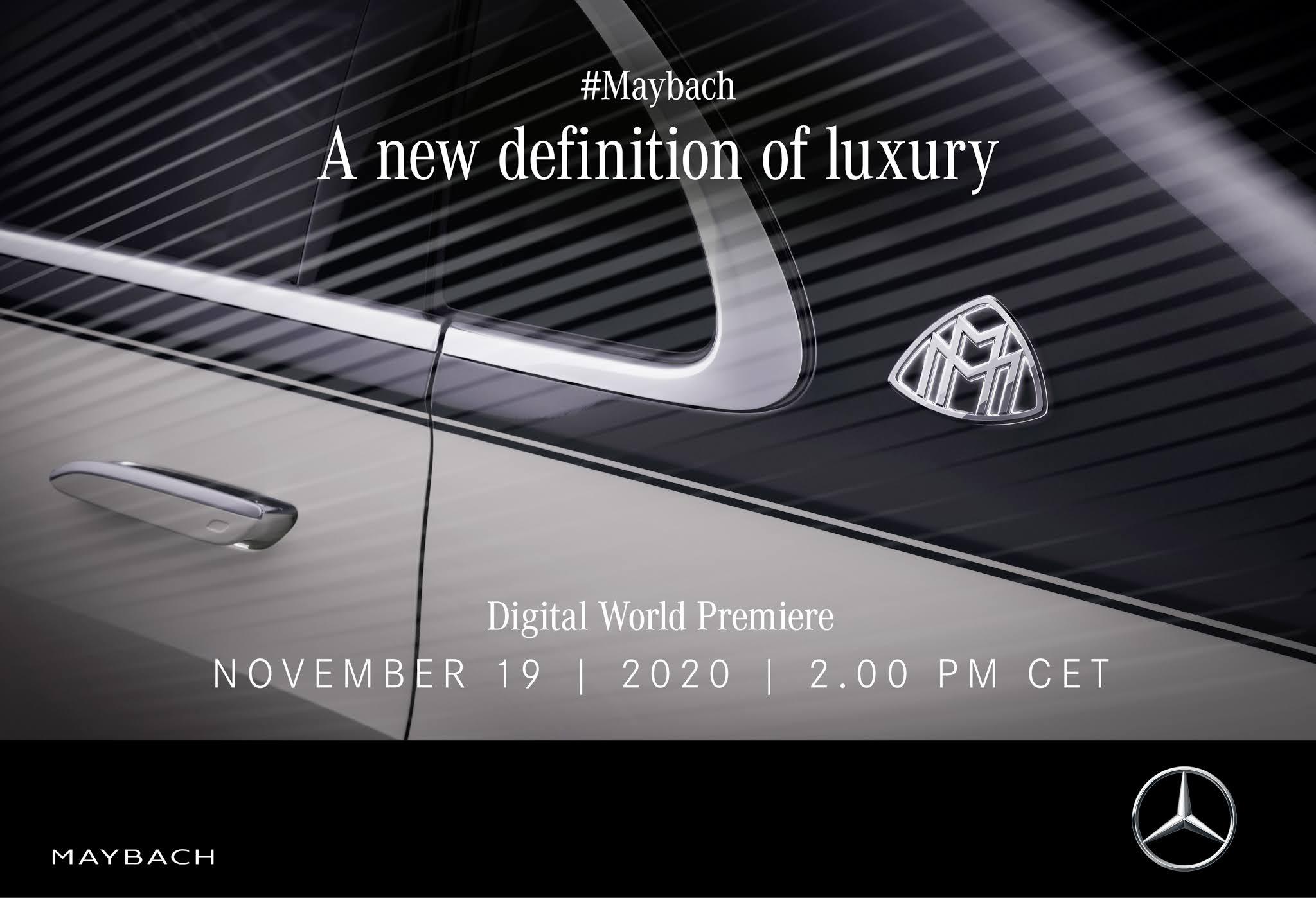 El Mercedes Maybach Clase S celebrará su estreno mundial digital el 19 de noviembre