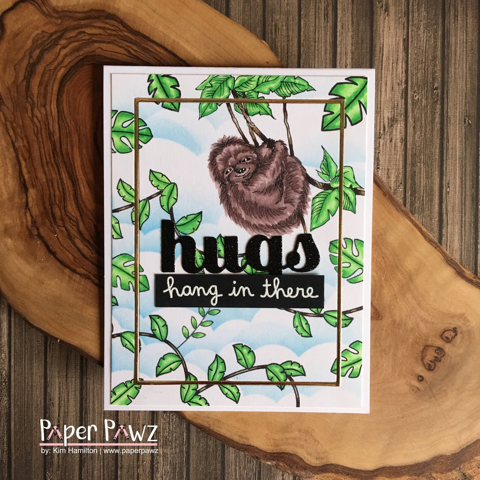 Stampendous CRQ234 Cling Stamp Sloth Swing