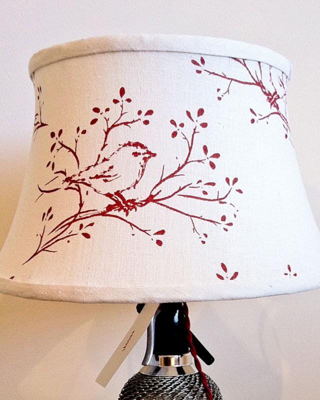 "Bird Lamp Shades: Bainbridge Blues: Custom ""Katie"" Bird Lamp Shade"