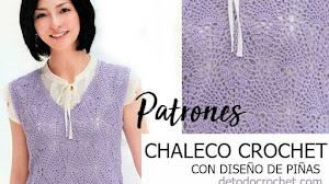 Chaleco Crochet en Punto Piñas | Patrones