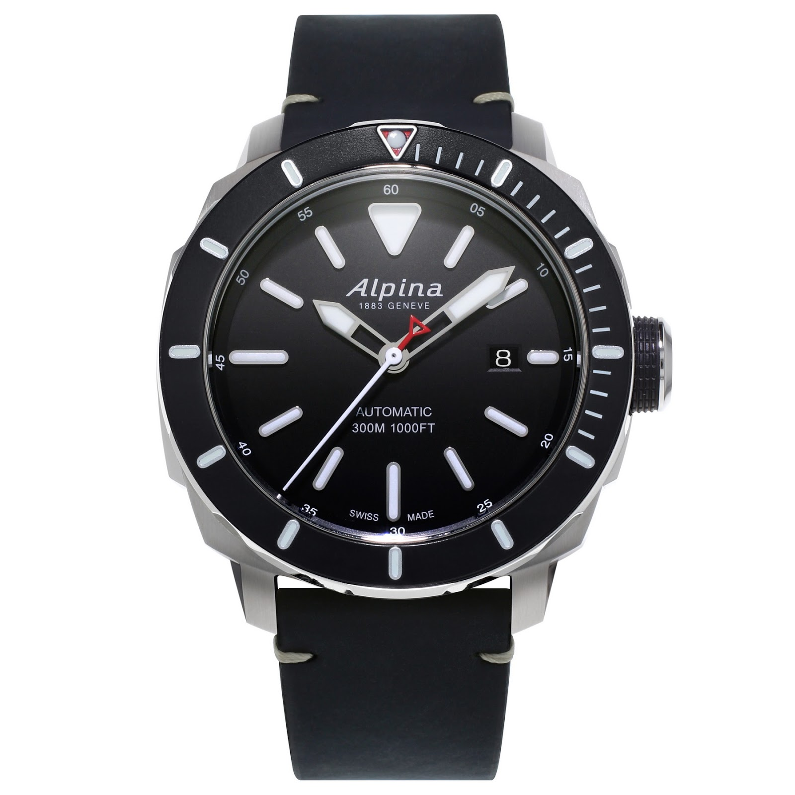 oceanictime alpina seastrong diver 300 auto. Black Bedroom Furniture Sets. Home Design Ideas