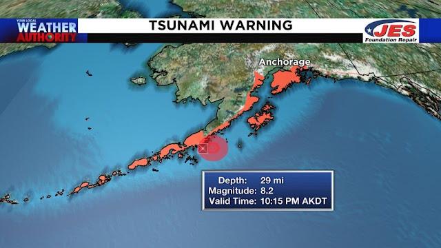 Πολύ μεγάλος σεισμός 8,2 Ριχτερ στην Αλάσκα - Φόβος για τσουνάμι