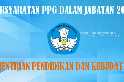 Persyaratan Setelah Lulus Pretest PPG Dalam Jabatan Tahun 2018