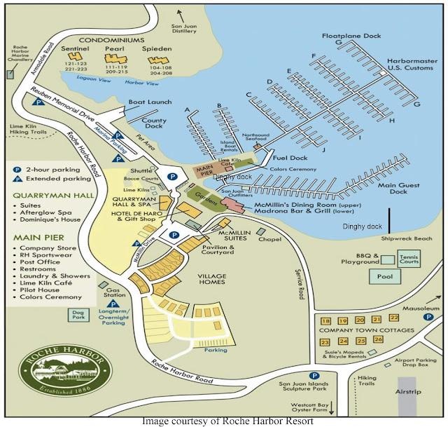 Roche Harbor marina map