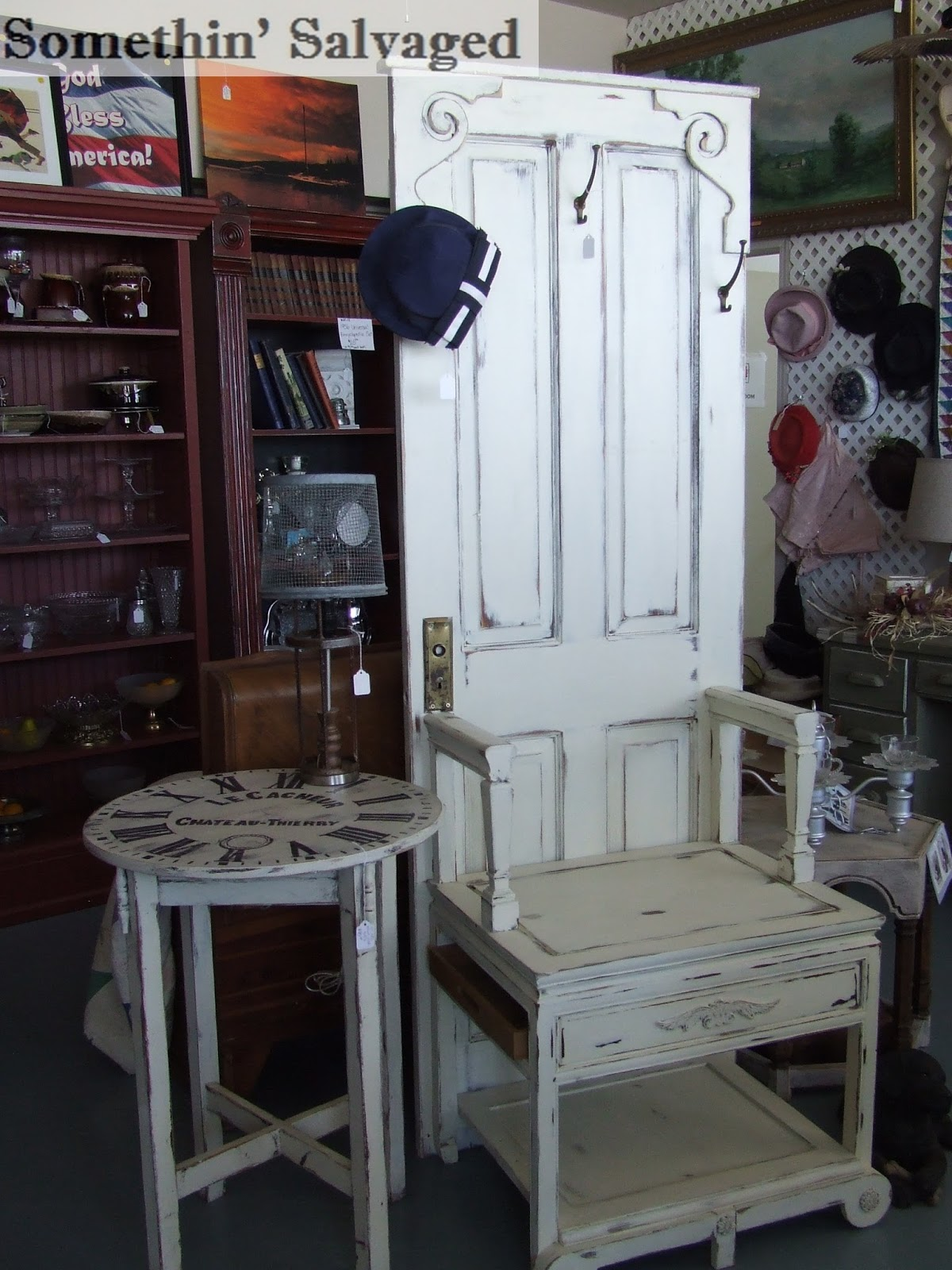 Somethin Salvaged Custom Hutch And Another Hall Tree