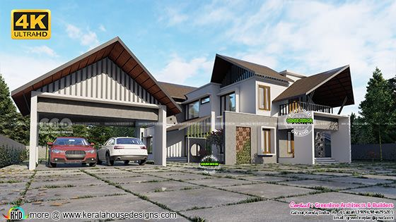 4 bedroom mixed roof modern home