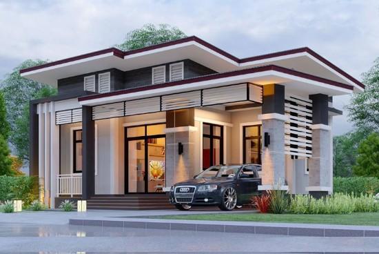 7 desain rumah dengan garasi mobil di samping rumah
