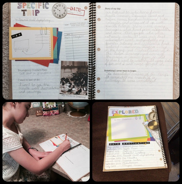 Unexpected Homeschool: Review of Apologia's Exploring Creation Field Trip Journal. Perfect for non-scrapbookers to document field trips and more!