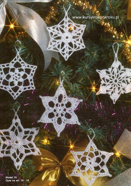 Jak zrobić gwiazdki, śnieżynki na szydełku - WZÓR 1