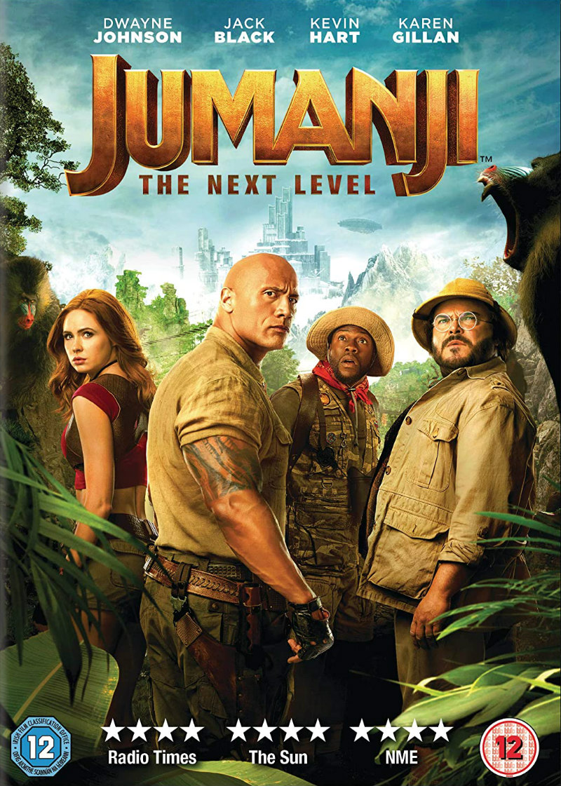 jumanji the next level dvd