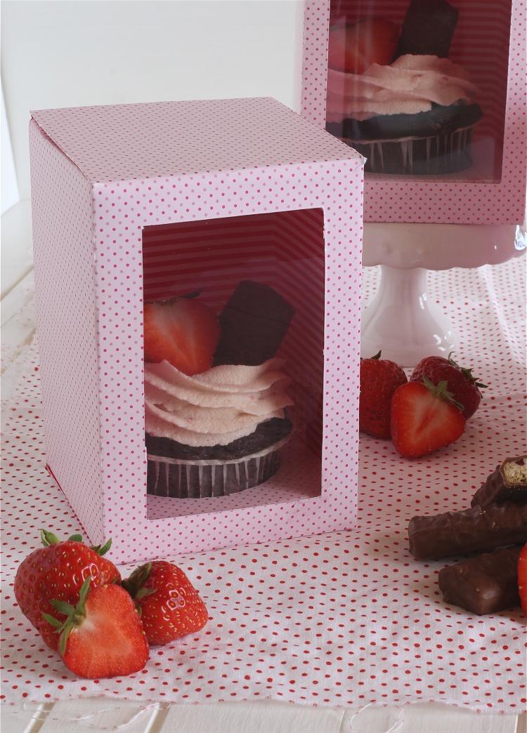 DIY/Tutorial Cupcake-Geschenkbox - Cupcake-Geschenkschachtel 2