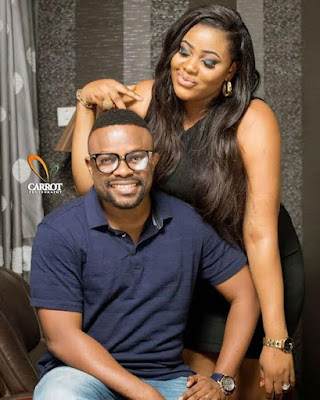 'The chief of my mumu button in the other room' – Comic actor Okon & wife celebrate 3rd wedding anniversary