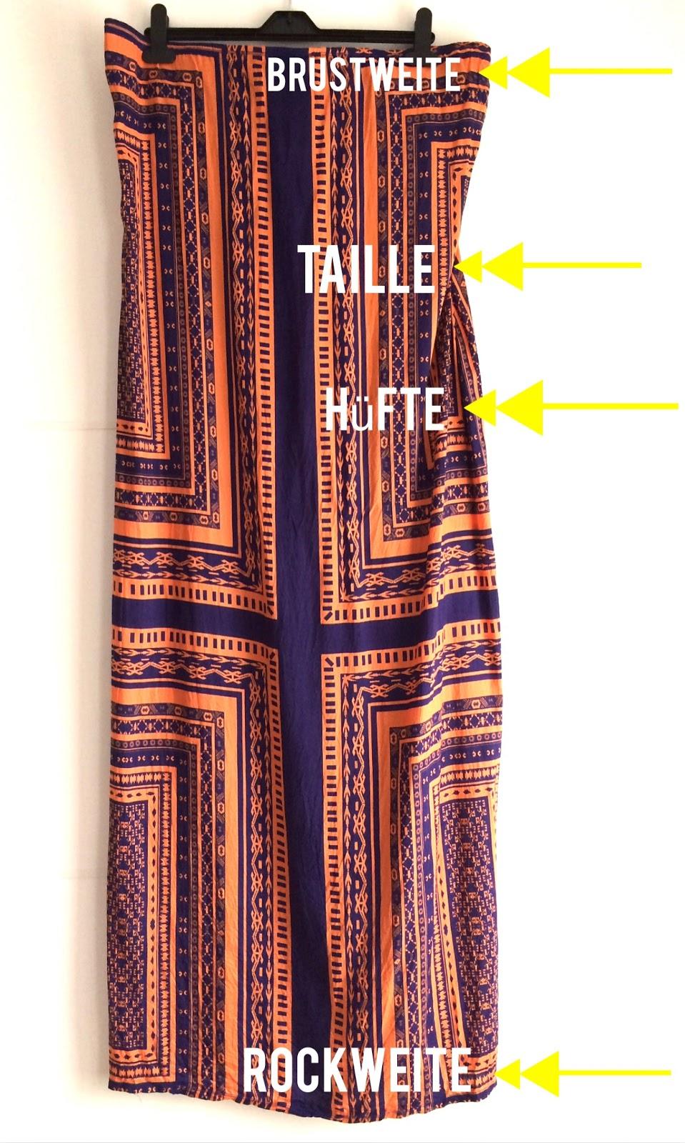 metterlink näht: Tutorial Bandeau Kleid/ Maxi Kleid