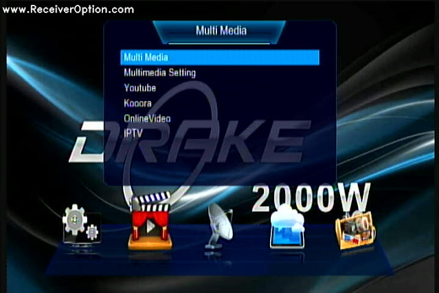 DRAKE 2000W 1506TV 512 4M BUILT IN WIFI NEW SOFTWARE WITH ECAST & DIRECT BISS KEY ADD OPTION