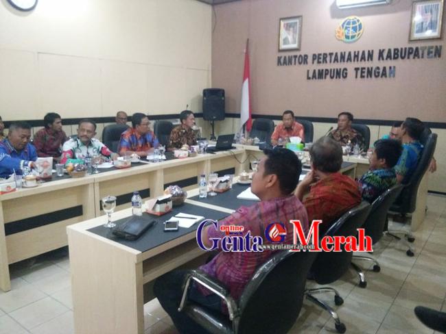 Ansipasi Sengketa, BPN Lamteng Himbau Warga Pemilik Sertifikat Lama Segera Plotting