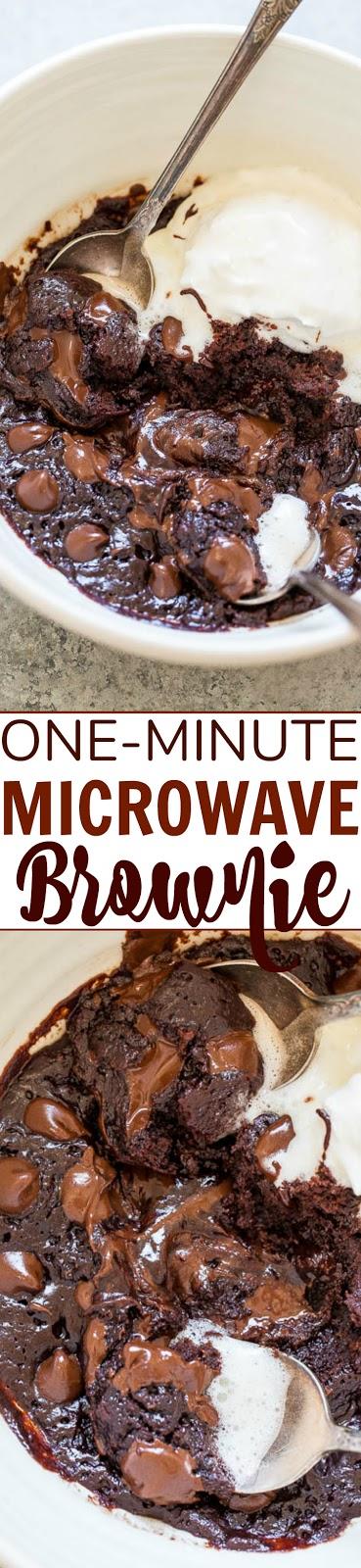 One-Minute Microwave Brownie