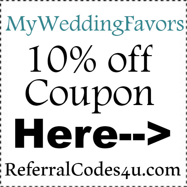 My Wedding Favors Discount Codes 2016-2021, MyWeddingFavors.com 10% off Coupon September, October, November