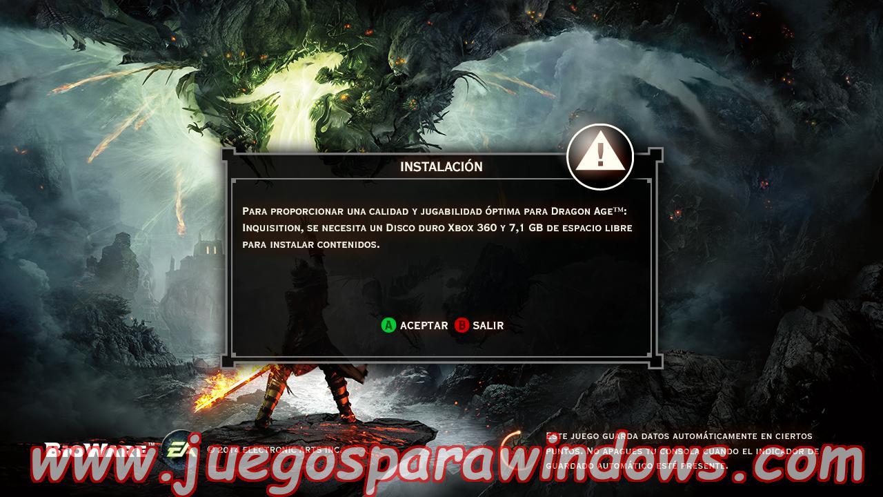 Dragon Age Inquisition Multilenguaje ESPAÑOL XBOX 360 (Región FREE) (COMPLEX) 3