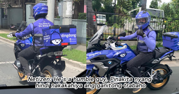 Sikat na aktor ginulat ang marami matapos madeliver sa kanyang mga customer gamit ang kanyang mamahaling motor!