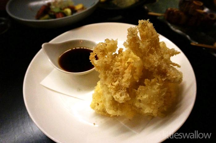 Sokyo: Mushroom Tempura - enoki and oyster mushroom, garlic ponzu
