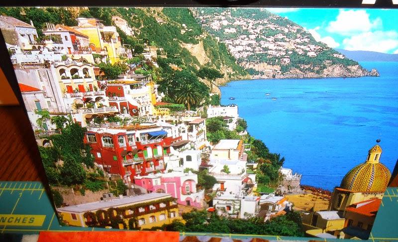 Postcard of the Almafi Coast, Italy