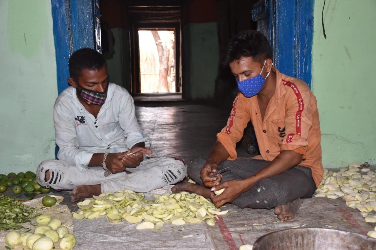 Raw Mango Process