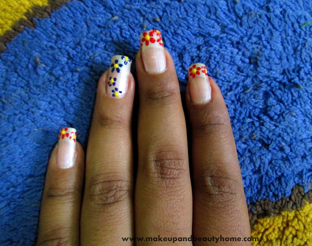 Do It Yourself Art: Do It Yourself Easy Flower Nail Art : 6 Easy Steps