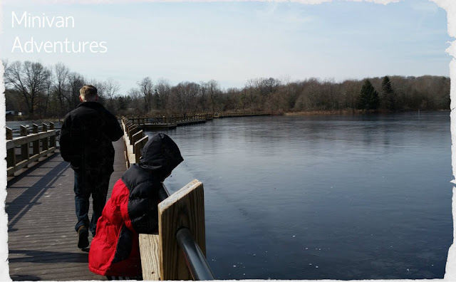 Boardwalk at Pickerel Lake. Image credit April of Minivan Adventures.