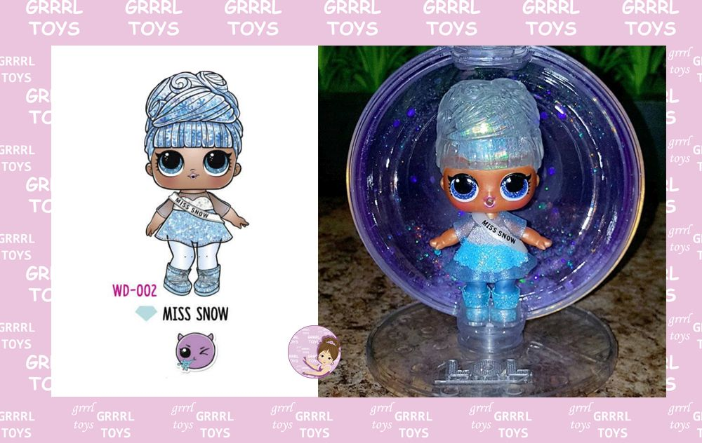 Miss Snow Glitter Globe series 002 Glam Club doll for Christmas 2019