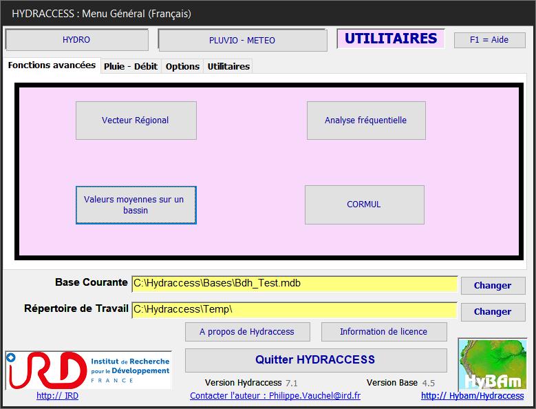 Hydraccess : Logiciel de traitement  des données hydrologiques