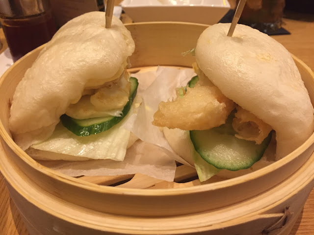 Steamed Buns in bamboo basket