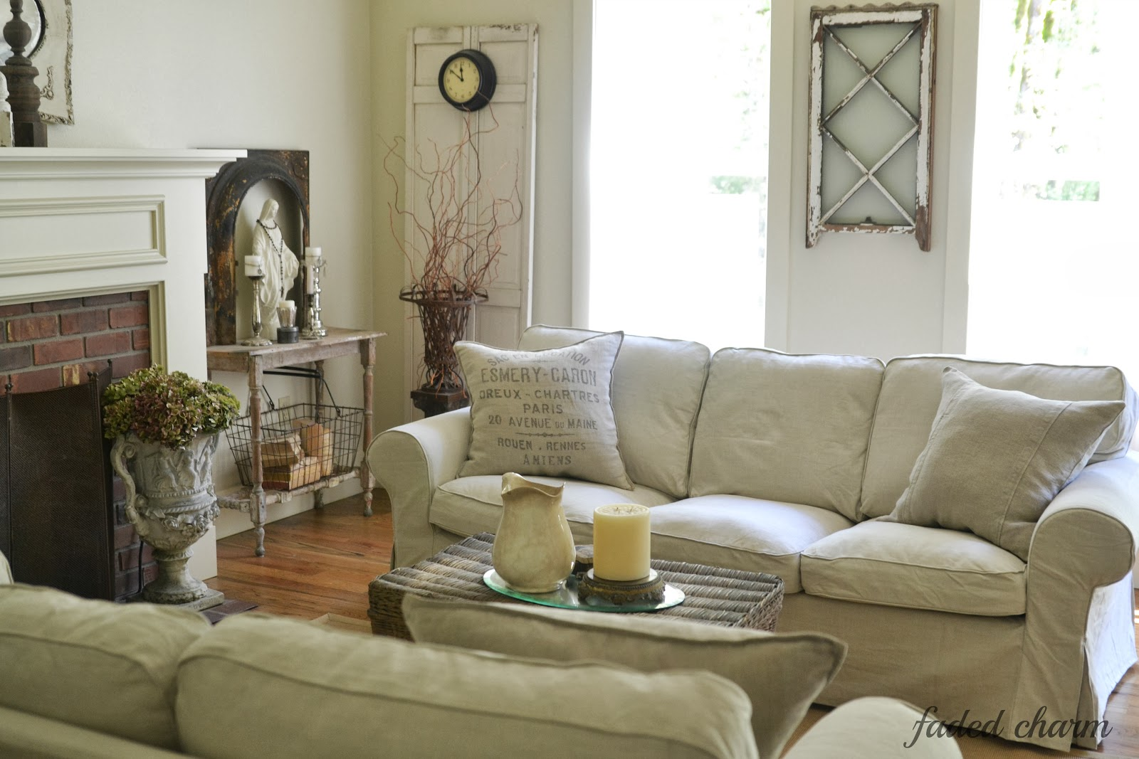 slipcovered living room chairs chair covers for hire randburg faded charm slipcover love