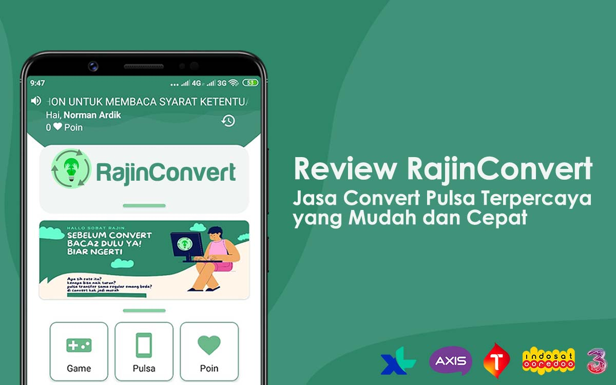 review jasa convert pulsa rajinconvert