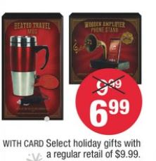Select Hoilday Gifts starting at $6.99