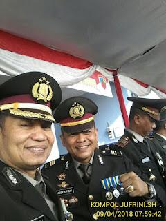 Inspektur Upacara dalam kesempatan ini adalah Bupati Majalengka DR H Soetrisno