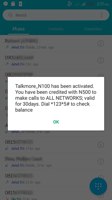 How To Turn Your ₦100 To ₦500 In The Airtel Talkmore Plan