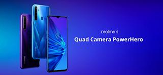 Realme 5 4GB Handphone harga 2 jutaan terbaik 2020
