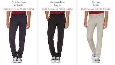 pantalones chinos y vaqueros hombre
