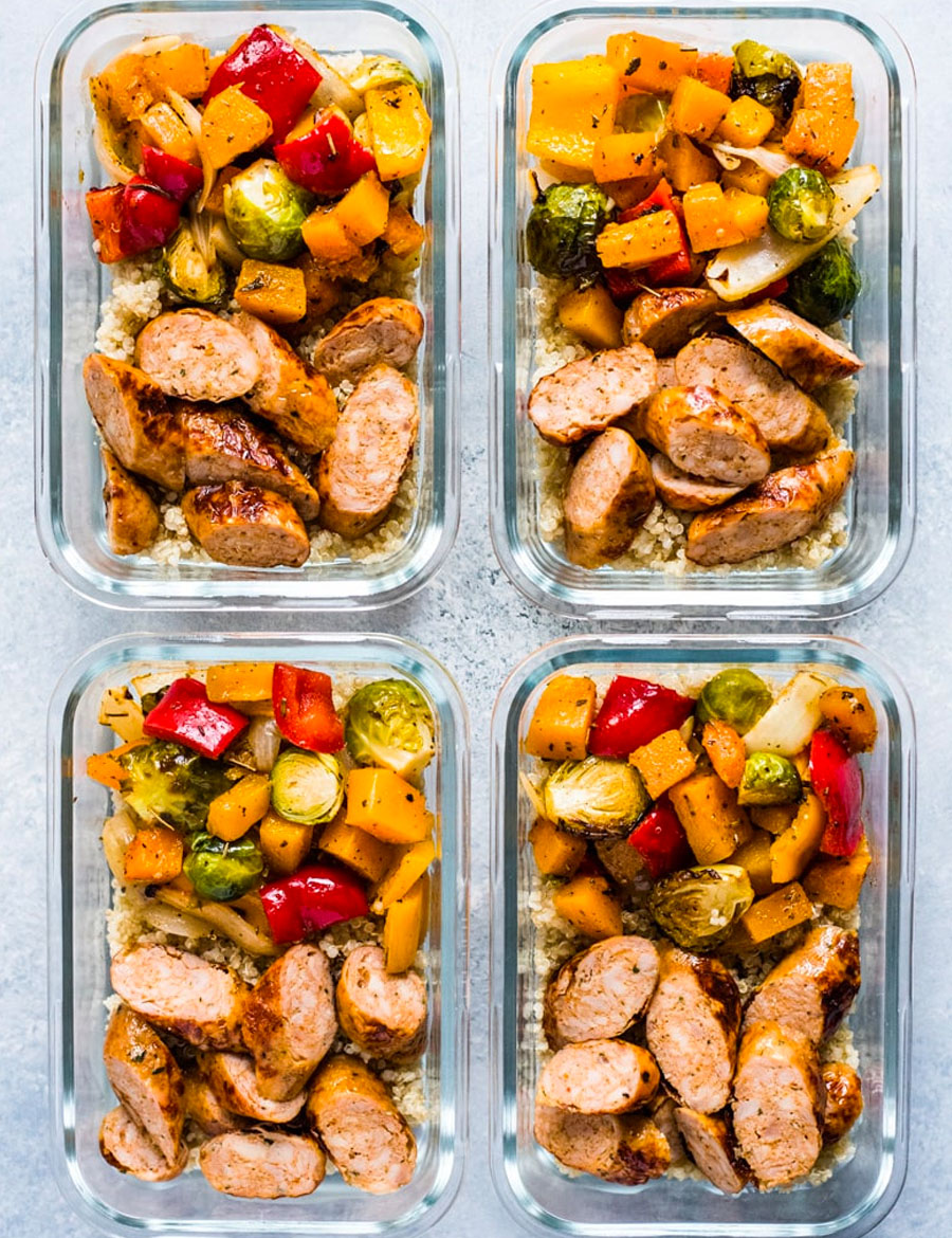Healthy Sheet Pan Sausage and Veggies