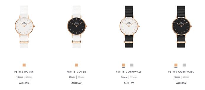ダニエルウェリントンの腕時計の最低価格商品一覧の画像