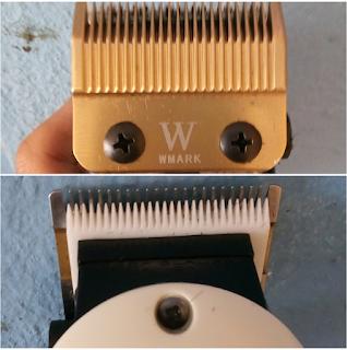 Gabungan mata pisau cukur Wmark dengan pisau cukur kramik