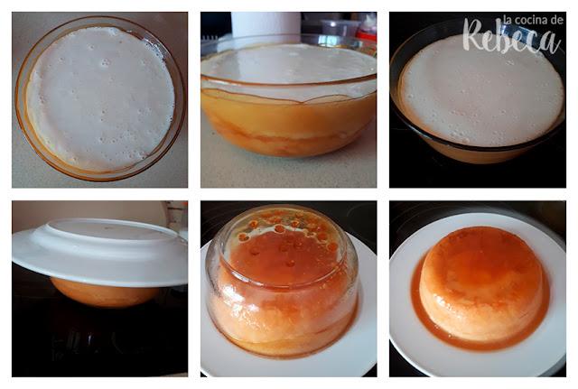 Receta de flan de queso: cocción y desmoldado