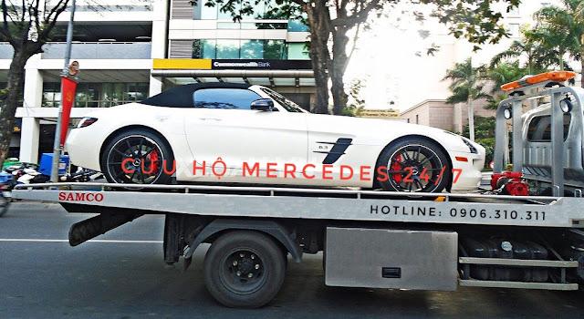 Xe cứu hộ Mercedes tại Mercedes Trường Chinh
