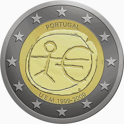 2 Euro Commemorative Coins Portugal 2009 Economic Monetary Union
