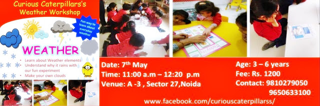 Noida Diary: Curious Caterpillar Weather Workshop in Noida