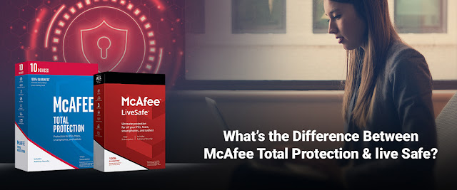 Difference between McAfee Total Protection and live safe
