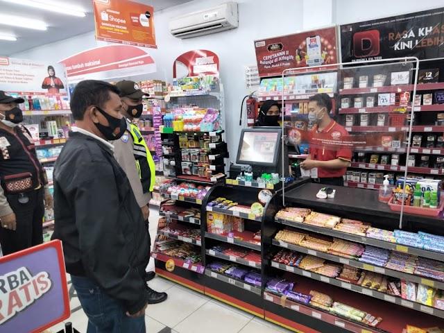 Sejumlah Mini Market di Tebing Tinggi Jadi Sasaran OPS Yustisi Polsek Padang Hulu