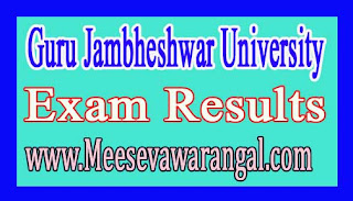 Guru Jambheshwar University of Sci & Technology M.Com Ist Sem Re-appear 2016 Exam Results