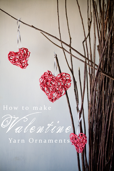 Valentine Yarn Ornaments Tutorial Some The Wiser