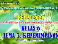 RPP KELAS 6 TEMA 7 SD/MI KURIKULUM 2013 REVISI 2020